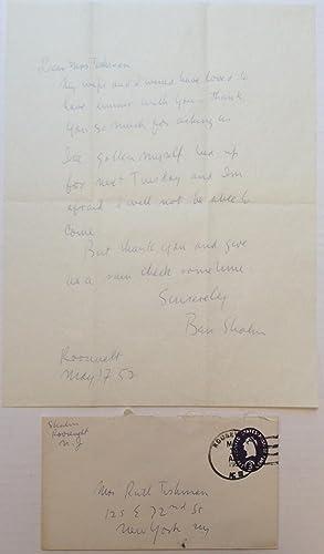 Autographed Letter Signed: SHAHN, Ben (1898 - 1969)