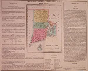 Geographical, Historical, and Statistical Map of Rhode Island: CAREY & LEA