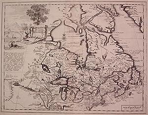 Carta Geografica del Canada Nell: America Settentrionale: ALBRIZZI, Giovanni Battista