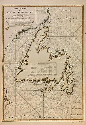 Carte Reduite de l'Ile de Terre-Neuve: COOK, James & LANE, Michael