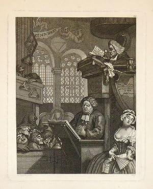 The Sleeping Congregation: RIEPENHAUSEN, Ernst Ludwig (after HOGARTH, William)