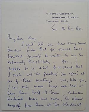 "Autographed Letter Signed ""Larry"" on personal stationery: OLIVIER, Laurence (1907"