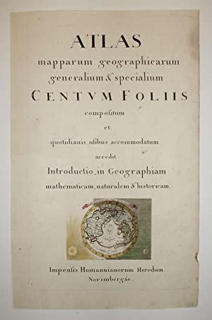 Title Page] ATLAS mapparum geographicarum generalium &: HOMANN HEIRS