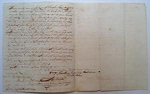 Autographed Manuscript Signed: WAR OF 1812 VETERANS