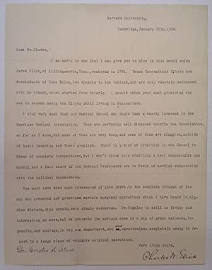 Typed Letter Signed by the President of Harvard