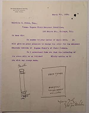 Typed Letter Signed with two original sketches