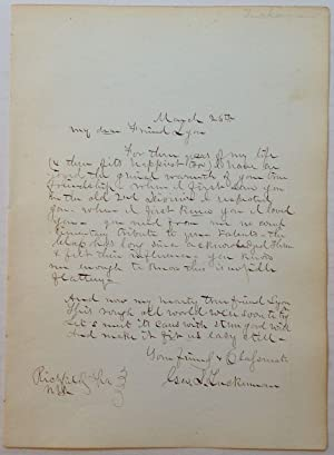 Autographed Letter Signed by Sharpshooter George S. Tuckerman