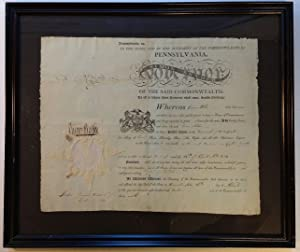 Framed Document Signed