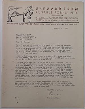 Typed Letter Signed on decorative letterhead: KENT, Rockwell (1882 - 1971)