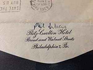 Framed Autographed Letter Signed: SILVERS, Phil (1911 - 1985)