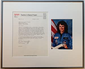 Framed Typed Letter Signed on NASA letterhead about the