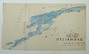 Map of Otsikwake or Black Lake, St.: HAZLETON, H.L. [Manuscript