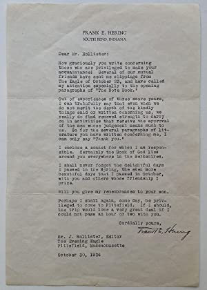Scarce Typed Letter Signed on personal stationery