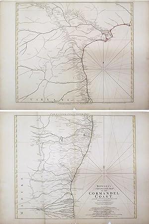 Bowles's New Pocket Map of the Cormandel Coast: BOWLES, Carington