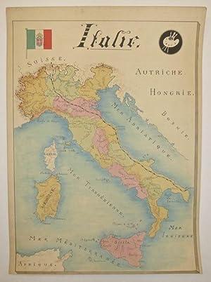Italie: ANONYMOUS [Manuscript map]