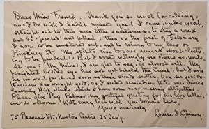 Autographed Letter Signed with small neat handwriting