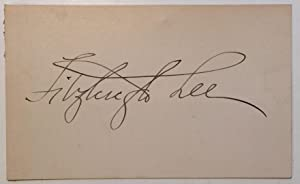 Signed Card: LEE, Fitzhugh (1835 - 1905)