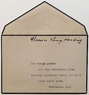 Signed Free Frank: HARDING, Florence Kling (1860 - 1924)