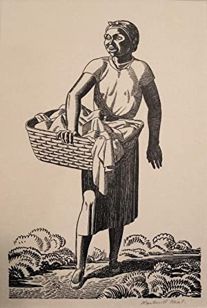 Black Woman Carrying Laundry