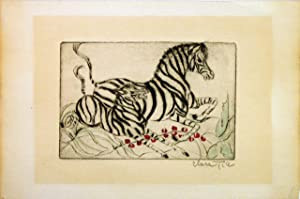 Untitled - Zebra mother and baby