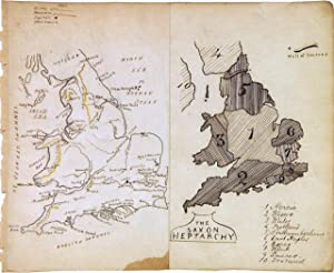 The Saxon Heptarchy. England and Wales: ANONYMOUS [Manuscript map]