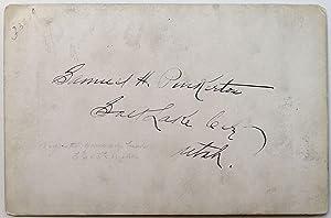 Signed Vintage Cabinet Card: PINKERTON, Samuel Hunter