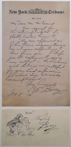 Autographed Letter Signed on New York Tribune letterhead