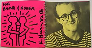 Signed Limited Edition Exhibition Catalog with full-page: HARING, Keith (1958
