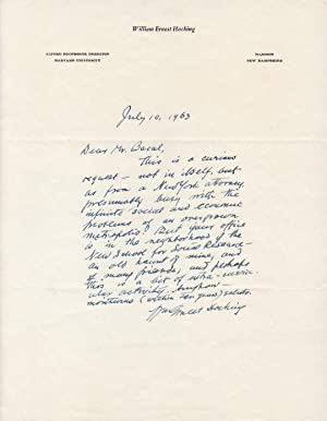 Autographed Letter Signed on Harvard University letterhead