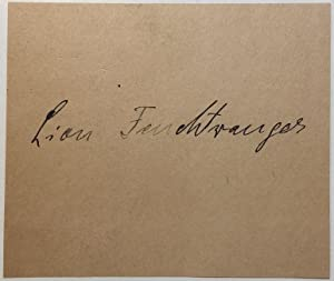 Signed Card: FEUCHTWANGER, Lion (1884