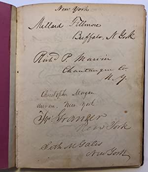 Vice President Richard M. Johnson's personal autograph ledger book with hundreds of signatures of...