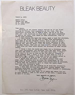 Typed Letter Signed to a book editor