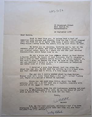 Typed Letter Signed with a handwritten addition