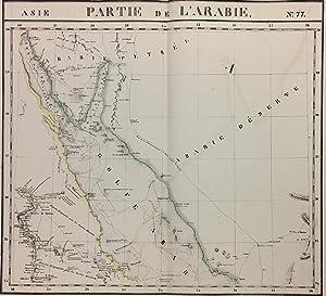 Partie de l'Arabie. Asie. No. 77: VANDERMAELEN, Phillippe Marie