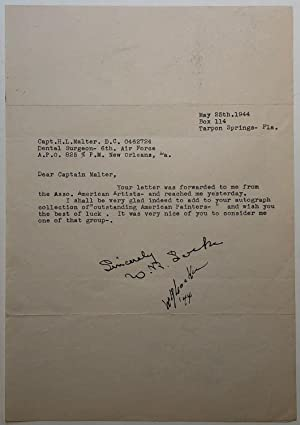 Typed letter signed twice to a collector