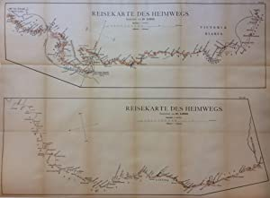 Reisekarte des Heimwegs; (travel map of the way home)