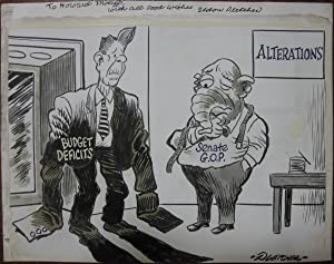 Signed Original Political Cartoon