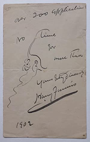 Autograph Note with Drawing
