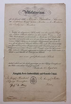 Partly-Printed Document Signed