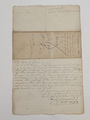 Rare Autograph Document Signed; Shares of Capitol Stock for Parcels of Land and Slaves