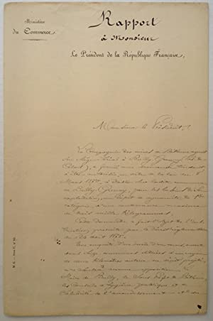 Excellent Signed Document in French
