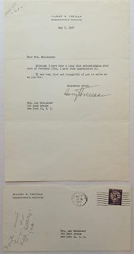 Friendly Typed Letter Signed: TRUMAN, Harry S.