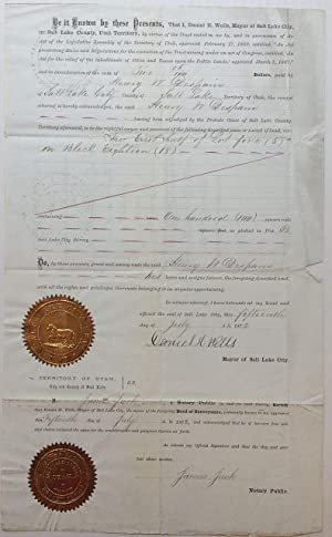 Partly Printed Document Signed