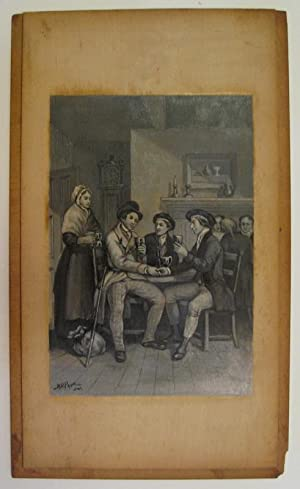 [Untitled Painting: Men at table]