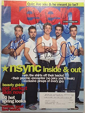 Signed Magazine Cover: TIMBERLAKE, Justin (with *NSYNC)