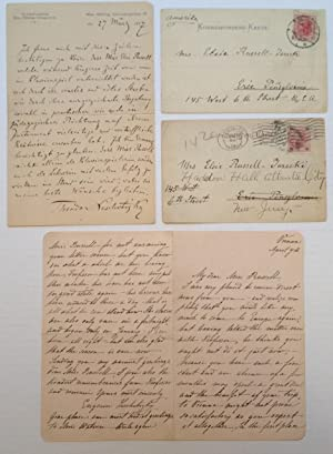Four Autographed Notes and Letters