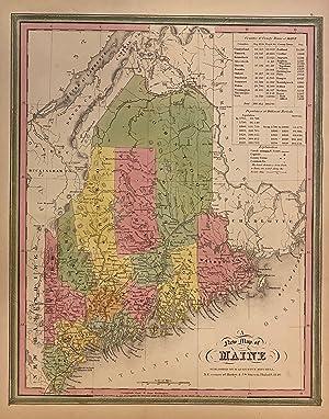 A New Map of Maine: MITCHELL, Samuel Augustus Sr
