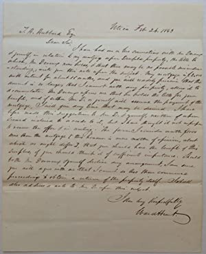 Important Autographed Letter Signed by a contentious judge
