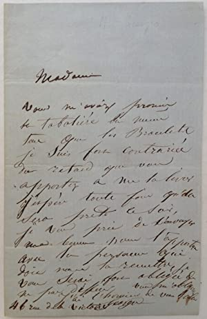 Autographed Letter Signed in French: GEORGES, Mademoiselle (1787 - 1867)
