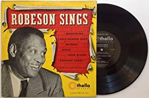 Signed Record: ROBESON, Paul (1898 - 1976)